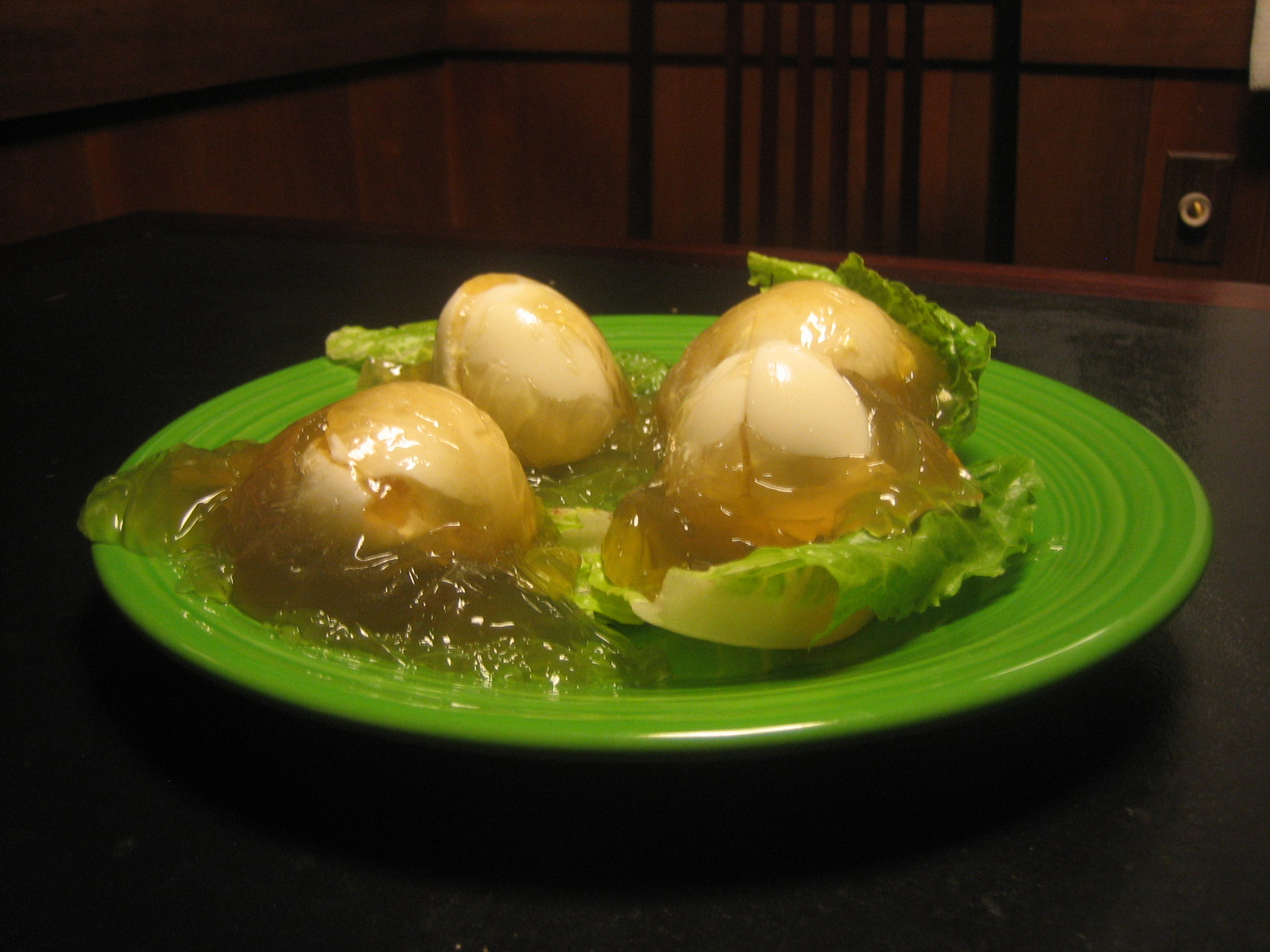 Jellied Stuffed Eggs