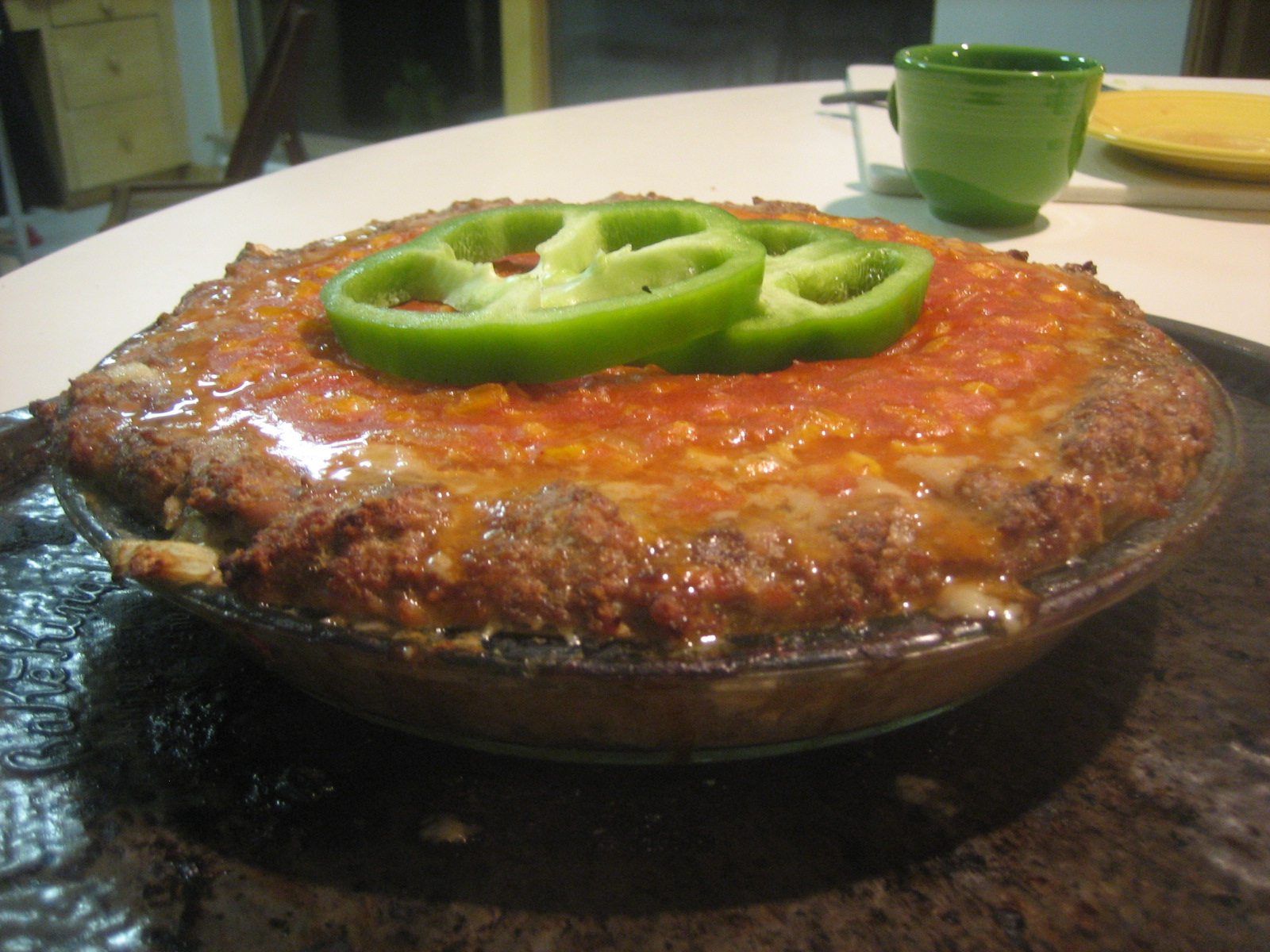 Meat-Crusted Corn Pie
