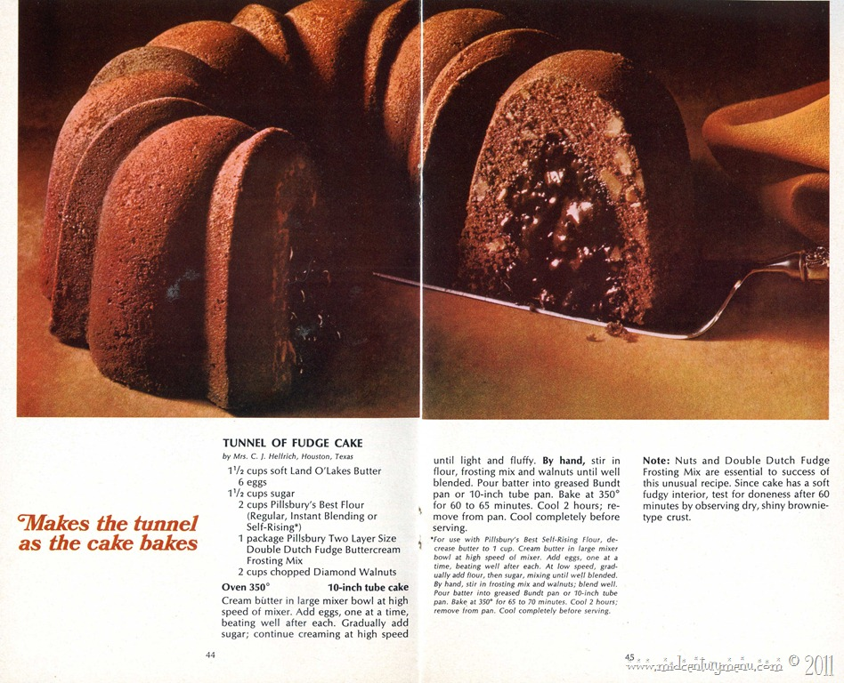 Recipe For Tunnel Of Fudge Cake From Cake Mix