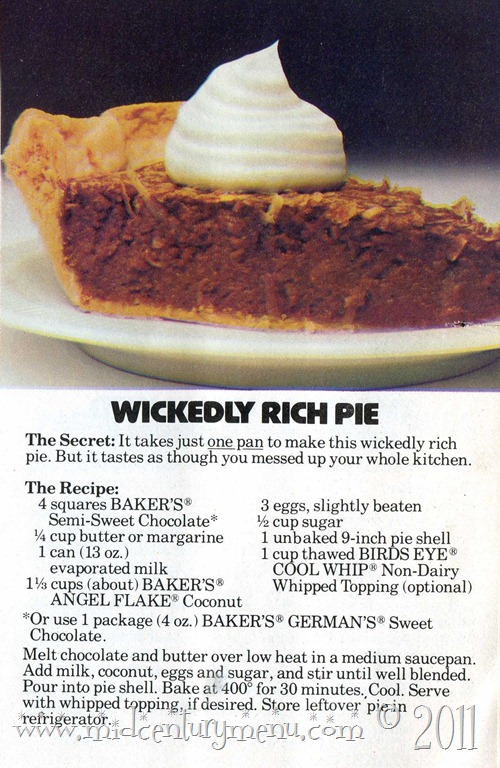 Wickedly Rich Pie – Too Good Tuesdays
