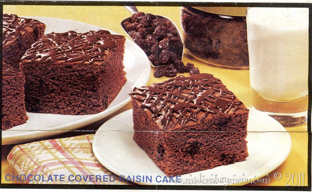 Chocolate Covered Raisin Cake