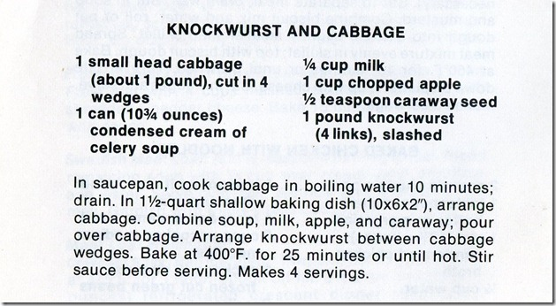 Knockwurst And Cabbage001