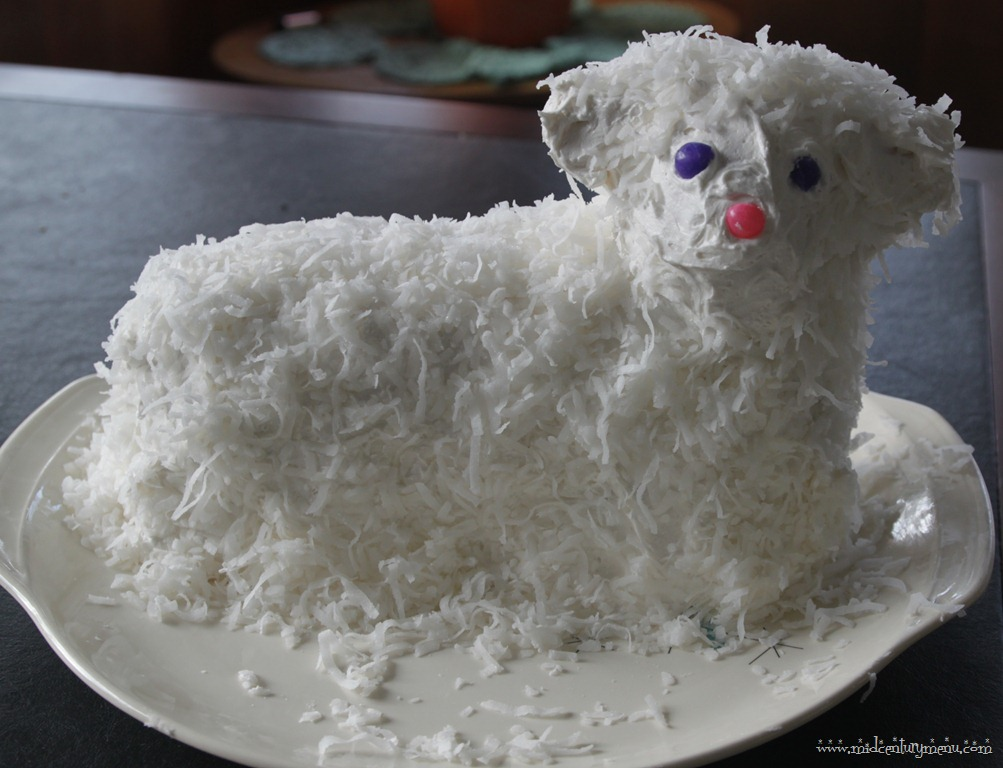 "... The Perfect Retro Easter Lamb ""Lambie"" Cake - The Mid-Century Menu"
