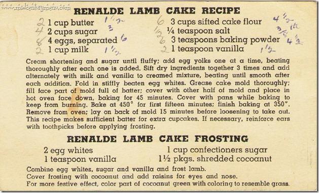 Renalde Lamb Cake Recipe
