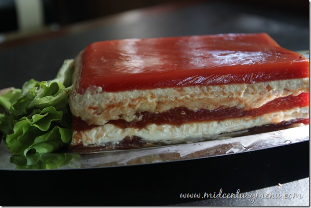 Glistening And Jiggly Gelatin Finalist #1 –Tomato Ham Salad Loaf