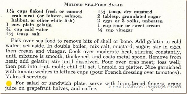 Molded Sea Food Salad