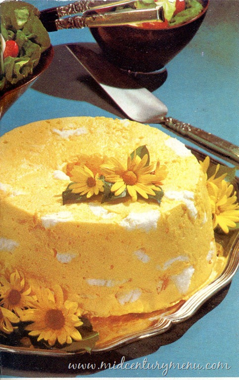 Lemonade Angel Dessert 1969 The Mid Century Menu