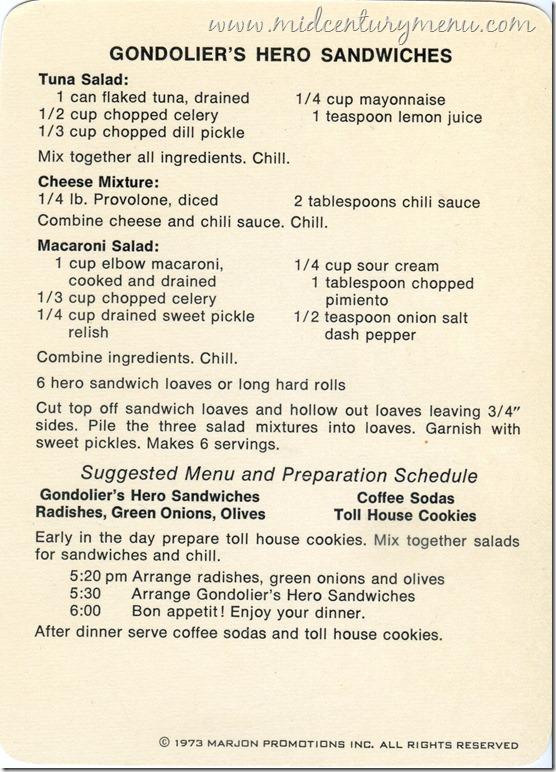 Gondolier Hero Sandwich002