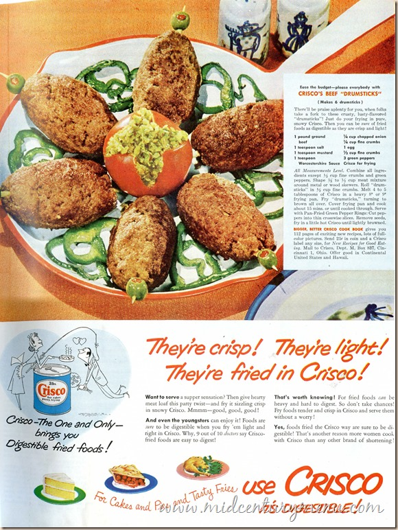 Crisco Beef Drumsticks