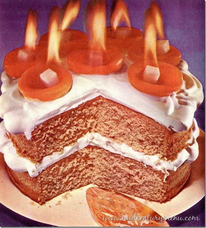 Flaming Apricot Cake001