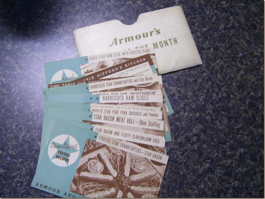 Armour Meal of The Month Cards