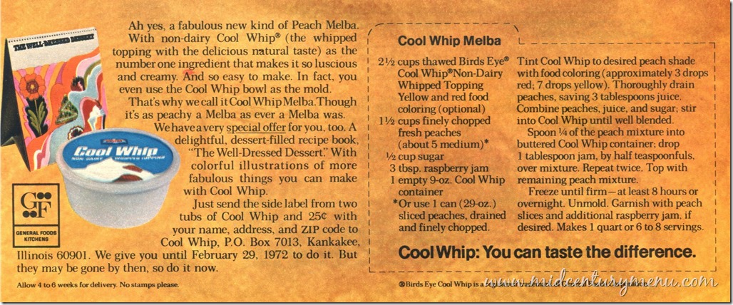 Cool Whip Melba 1971001