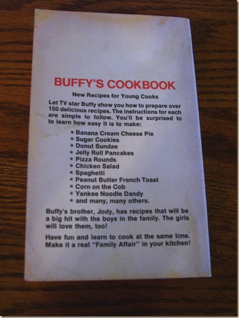 Buffy Cookbook