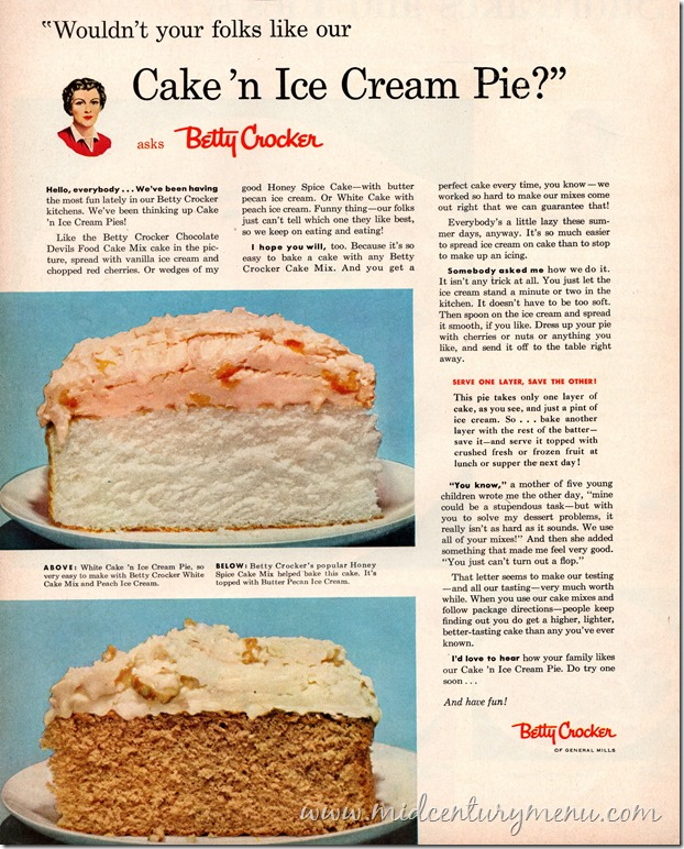 Cake N Ice Cream Pie BHG Aug 1954001