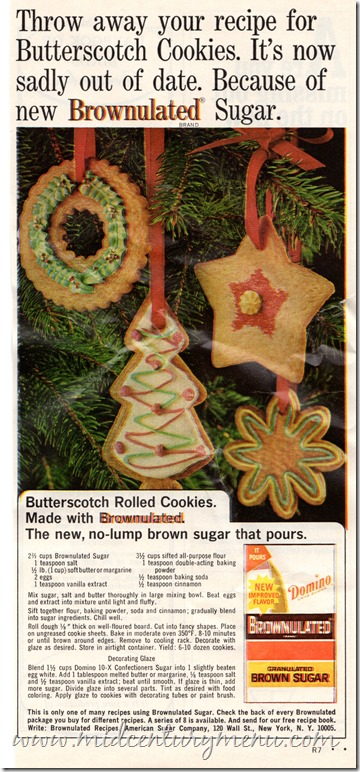 Brown Sugar Frosted Cookies001 woman's Day Dec 1966