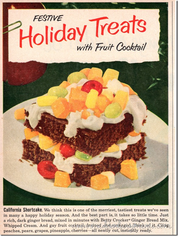 Festive Holiday Treats With Fruit Cocktail001 BHG Dec 1953
