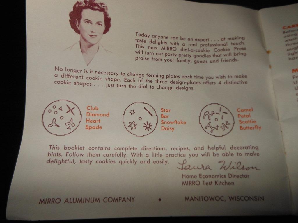 mirro aluminum company cookie press