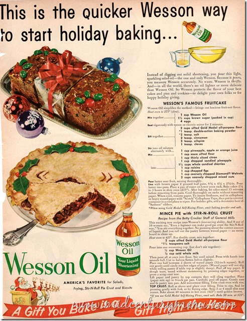 Wesson Oil Holiday Baking001 BHG Dec 1953
