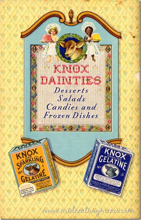 Knox Gelatine 1933 Knox Dainties001
