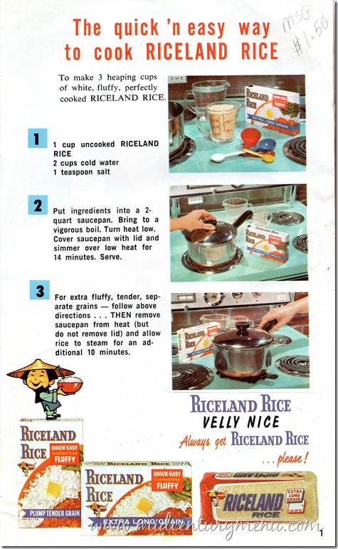Riceland Rice001 Riceland Rice Cookbook 1955 p
