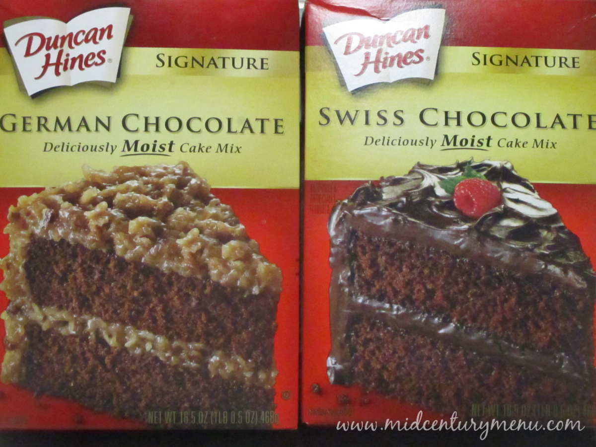 Recipe with german chocolate cake mix