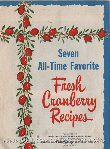 Seven All-Time Favorite Fresh Cranberry Recipes, 1950 – Vintage Cooking Library