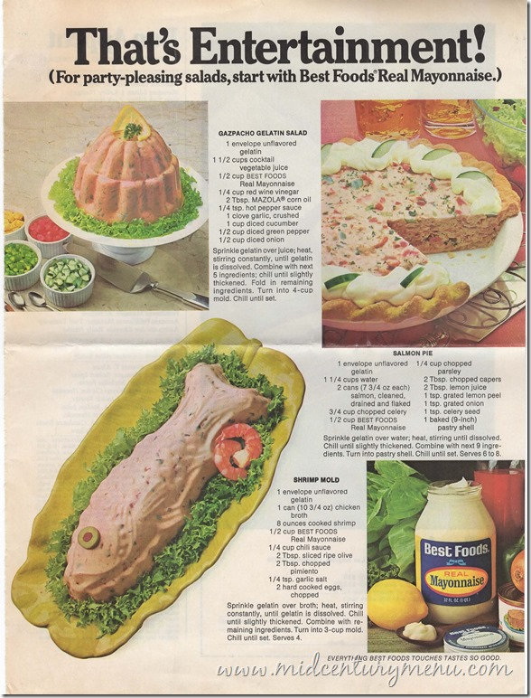 Gazpacho Gelatin Salad The Completed Mayo Trilogy A Mid Century
