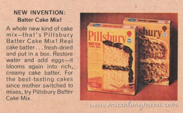 Pillsbury Batter Cake Mix, 1968 – Mid-Century Shopping Cart