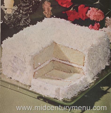 Coconut Fluff Cake, 1948 – The Vintage Cake Corner