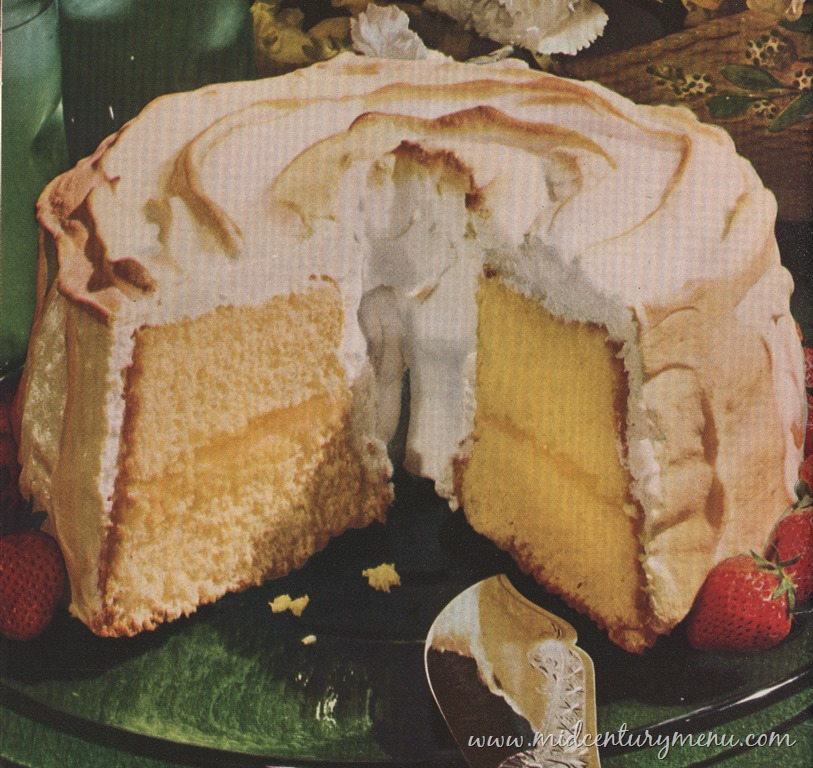 Cinderella Sponge Cake With Lemon Filling and Fluffy Meringue, 1948 – The Vintage Cake Corner