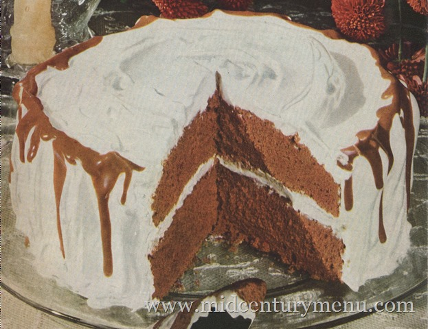 Chocolate Icicle Cake With Fluffy White Frosting, 1948 – The Vintage Cake Corner