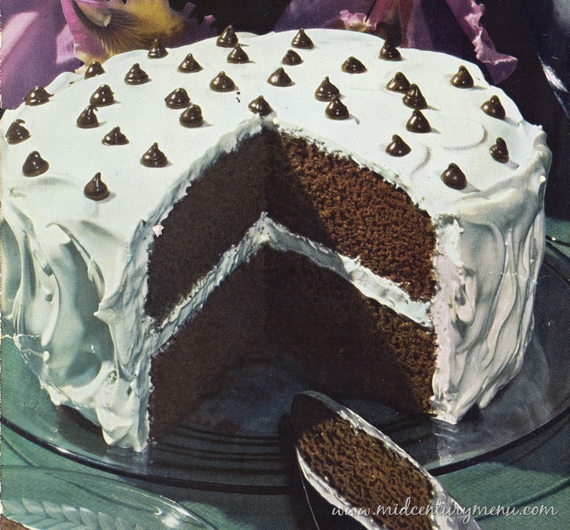 Chocolate Mocha-Dot Cake, 1945 – The Vintage Cake Corner