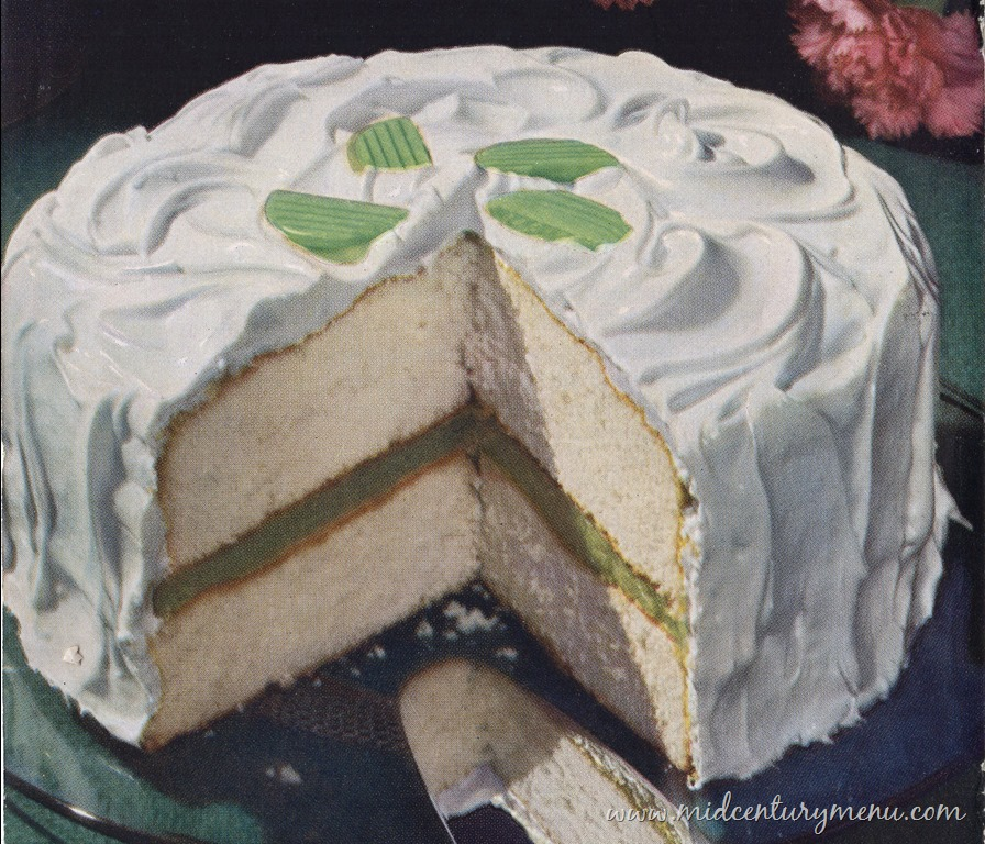 Lime Delight Cake, 1945 – The Vintage Cake Corner