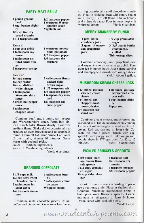 Brandy Coffolate - Martha Homes Holiday Recipes 1976