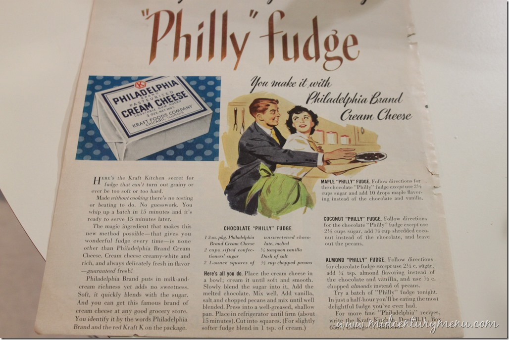 Philly Fudge 1951 The Five Days Of Vintage Fudge The