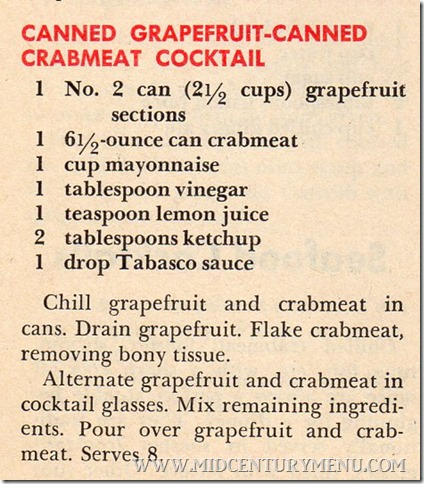 Canned Grapefruit-Canned Crabmeat Cocktail001