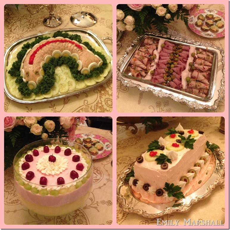 pink and green food