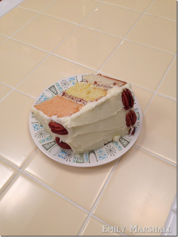 3 layer cake slice