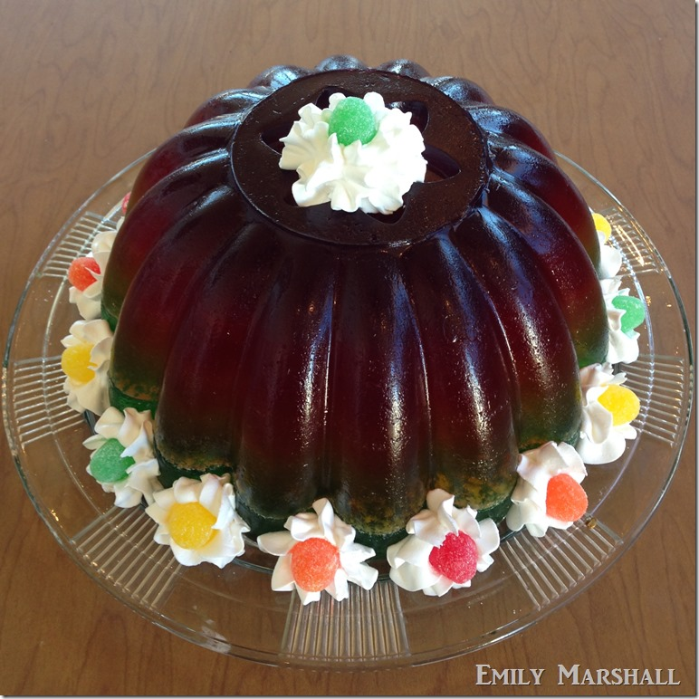 rainbow ombre jello