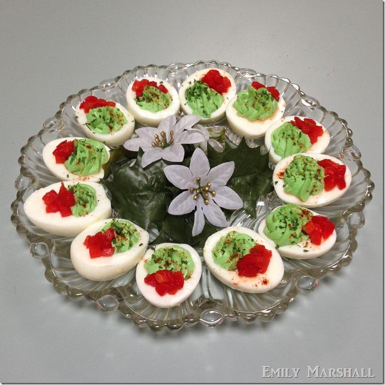 christmas eggs - Christmas Deviled Eggs