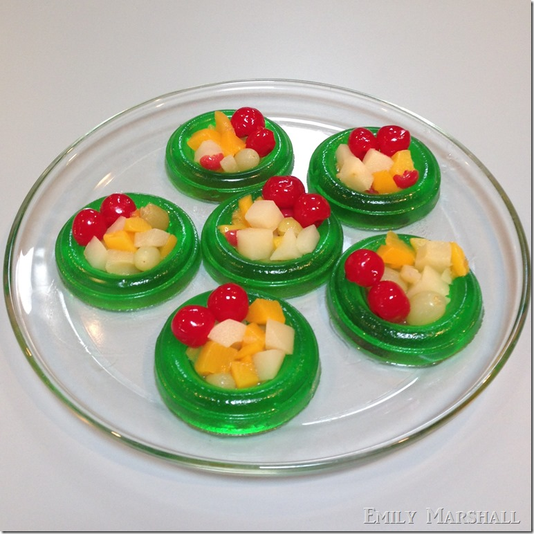 fruit cocktail jello wreaths