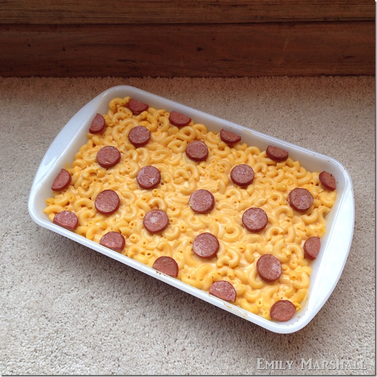 polka dot mac and cheese