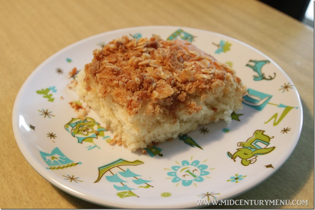 Potato Chip Coffee Cake, 1957– A Vintage Recipe Test