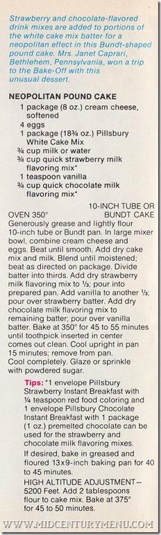 Pillsbury Bakeoff  22 Neopolitan Pound Cake001