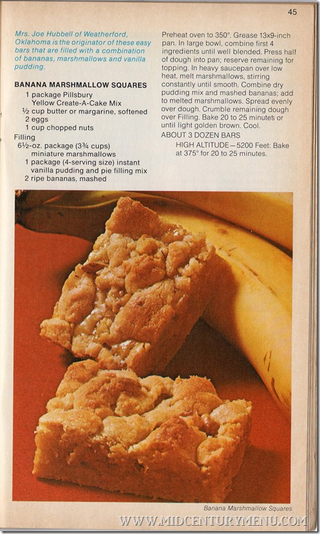 Pillsbury Bakeoff Banana Marshmallow Squares001
