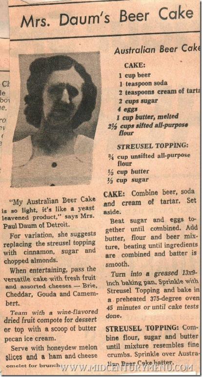 Australian Beer Cake