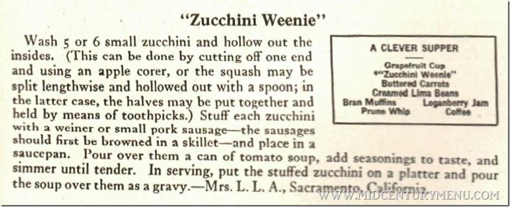 Zuchinni Weenie Sunset Kitchen Cabinet Recipes Vol II