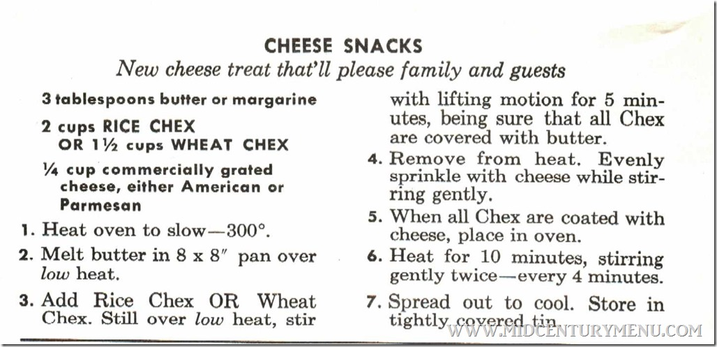 Cheese Snacks Easy Guide To Good Eating 1959