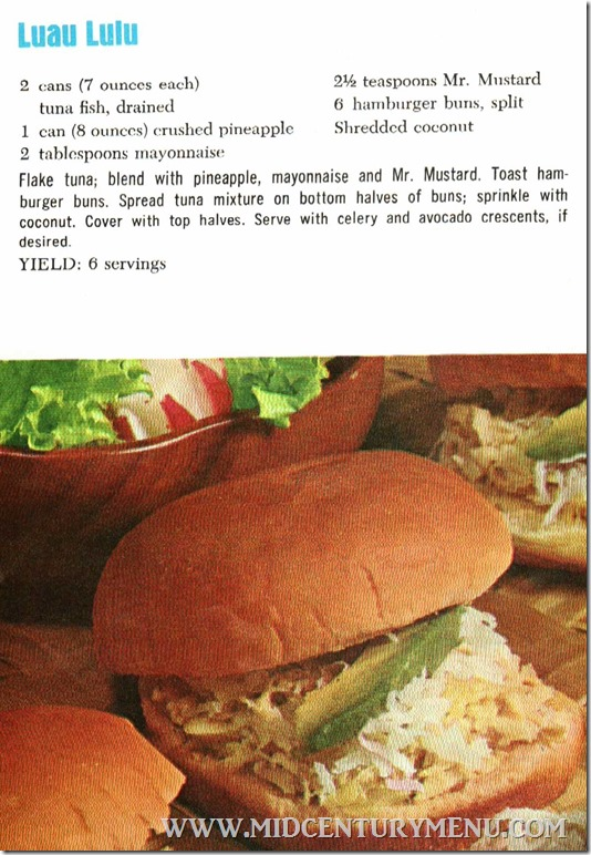 Luau Lulu The Bold Sandwich 1960