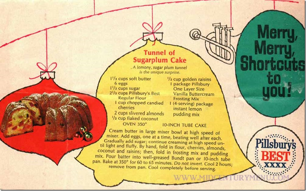 Tunnel of Sugarplum Cake - Pillsbury's Best Pamphlet, 1968